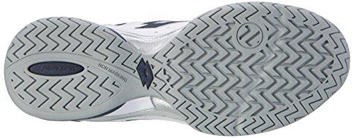 Lotto Raptor Lth Spd, Zapatillas de Tenis para Hombre Blanco (Wht/blu Avio)