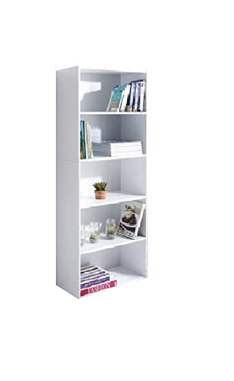 Stylish Lokken 5 Tier Spacious Storage Bookcase for Books/Photo ...
