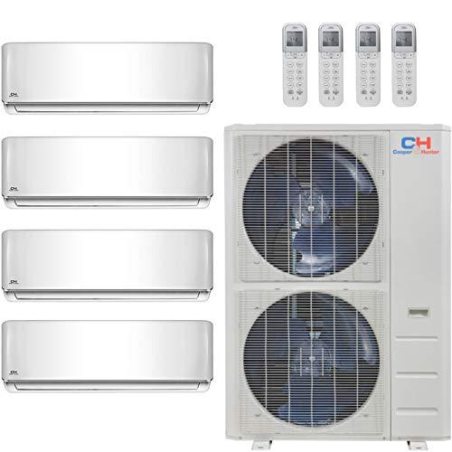 COOPER AND HUNTER Quad 4 Zone Mini Split Ductless Air Conditioner Heat Pump 12000 12000 12000 12000 Multi