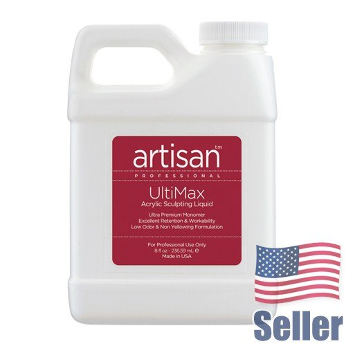 Artisan Ultimax Acrylic Nail Liquid | Self Level - Superior Adhesion - 8 oz
