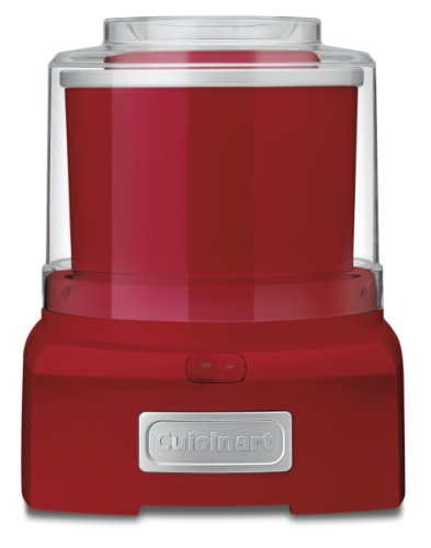 Cuisinart ICE-21R Frozen Yogurt, Ice Cream & Sorbet Maker, Red, 1.5 Quart (Frozen Custard Machine)