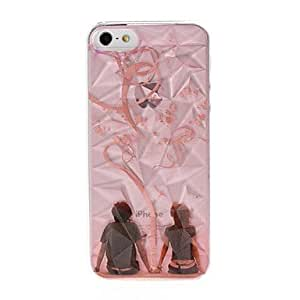 GOG Lovers Pattern Diamond Effect Plastic Hard Case for iPhone 5/5S