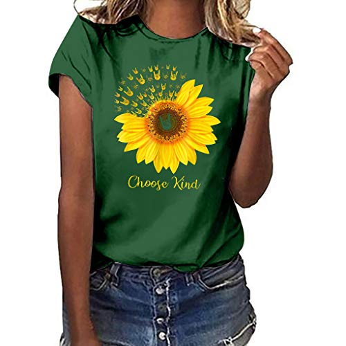 Price comparison product image Women's Tops Summer Plus Size Tops Printing Vest Sleeveless Loose Crop Tops Tank Blouse Green