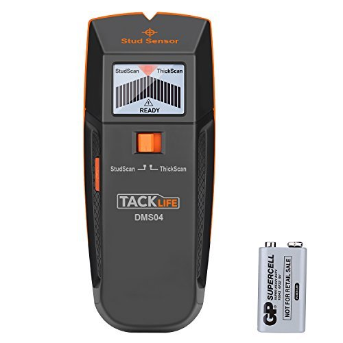 Stud Finder, Tacklife DMS04 Stud Sensor, Edge Finding Electronic Wall Scanner, Multi-Functional wall Detector, Metal/Live AC Wire/Wood Stud Scanner with LED/Sound Warning Indicator by TACKLIFE