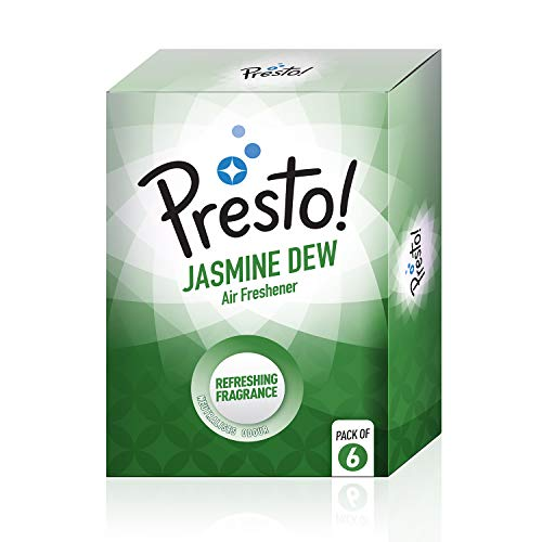 Presto! Air Freshener Pocket, Jasmine Dew – 10 G (Pack of 6)