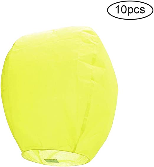 15Inch Colored Paper Chinese Flying Lanterns, Eco Friendly 100 ...