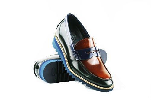 Forro 8 Piel Zapatos Zerimar Color Alzas Caballeros Verde Interior Con Cms De Para Uw6xzYq
