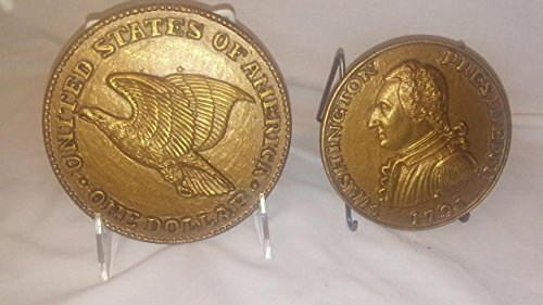 - Set of 2 Oversized Gold Coin Wall Hangings, Syroco Burwood Homco Style GOLD COIN Wallhangings 4-1/2