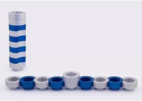 Agayof Travel Mn003 Chanukka Rund 7 5 X 30 Cm Silberfarben Blau