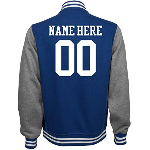 Customized Girl Personalized Varsity Jacket: Unisex Fleece Letterman Jacket -