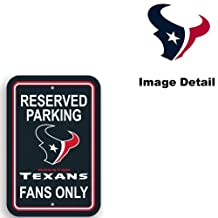 Houston Texans NFL Team Logo Home Office Garage Wall Parking Sign - Classic RESERVED PARKING TEXANS FANS ONLY