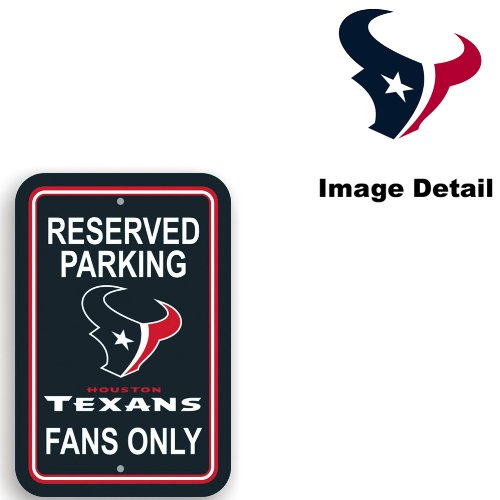 eam Logo Home Office Garage Wall Parking Sign - Classic RESERVED PARKING TEXANS FANS ONLY (Fans Parking Only Sign)