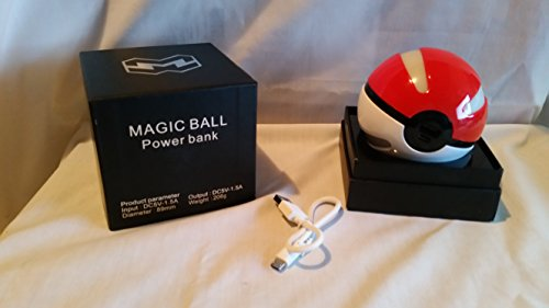 Esna Pokemon GOPower Bank Pokemon GO for Use with PokÃmon GO Power bankNEW Arrivals Action Figures Go Ball Power Bank 10000mAh Chager with LED Light for Go AR Games