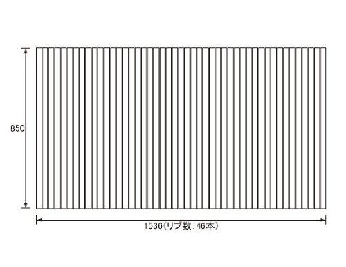 パナソニック Panasonic(松下電工 ナショナル) 風呂ふた(ふろふた フロフタ) 巻きふた GA161JC (GA161Jの代替品) 850×1536mm (リブ数:46本) B007B0QW86