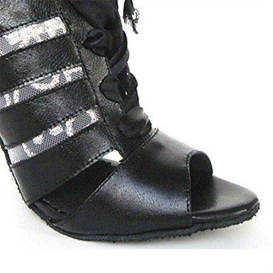 Negro Stiletto Personalizables baile Latino Tacón black Zapatos de gYEqWO