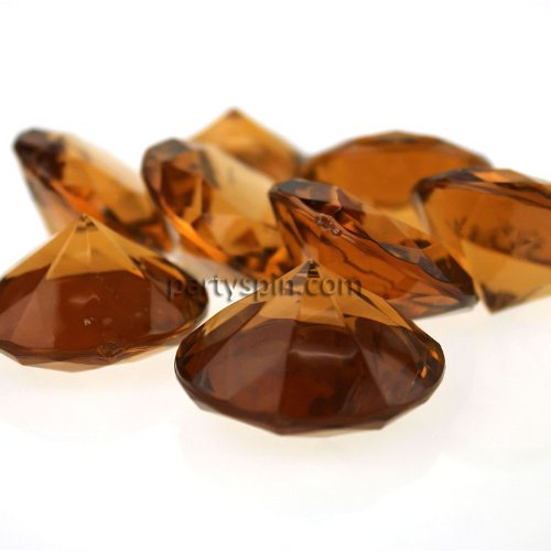 Firefly Imports Homeford Acrylic Gemstone Table Scatter, Brown, Jumbo/1-1/2-Inch by Firefly Imports