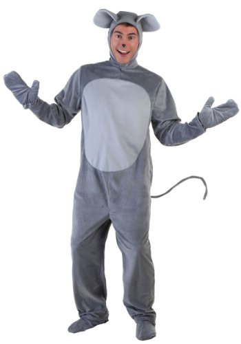 Mouse Costume Adult Merry Mouse Costume for Adults Standard Gray -