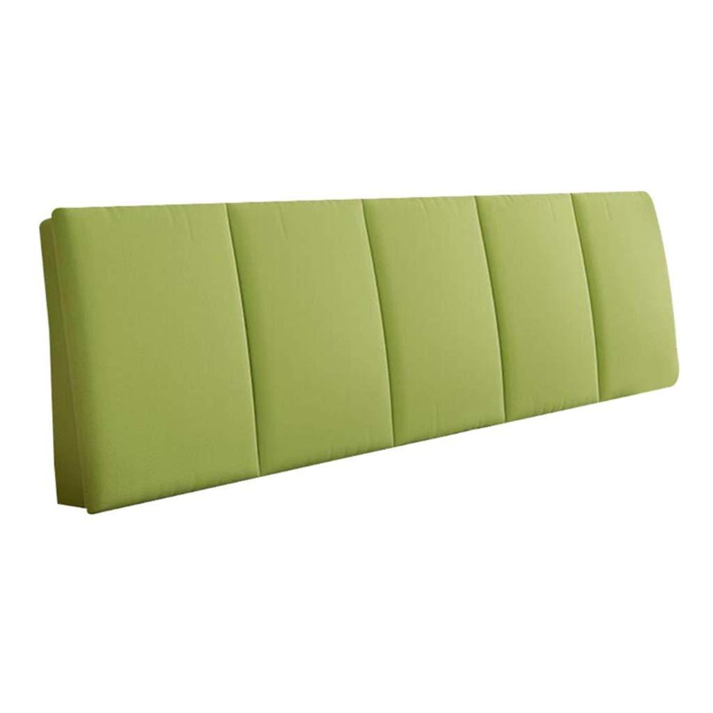 ZHWNGXO Bed Head Cushion Without Bed Back Cushion Head Pillow Large Pillow Waist pad (Color Solid Color Size: 200 × 55cm) (Color : Green, Size : NO Bed Head 200×55cm) by ZHWNGXOlian