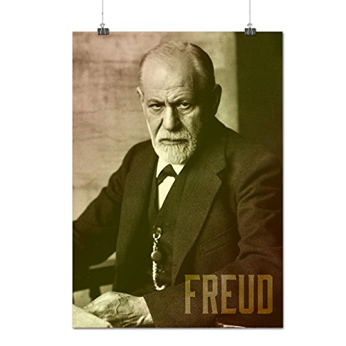 Sigmund Freud Famous Person Matte/Glossy Poster A3 (12x17 inches) | Wellcoda
