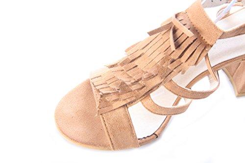 Mojoshu - Zapatos de tacón mujer , color verde, talla 39