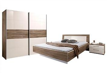 LODDENKEMPER Schlafzimmer, Loddenkemper (4-tlg.) weiß Griffleisten ...