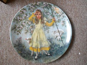 "Mother Goose ""Little Bo Peep"" Collector Plate by John McClelland with Certificate of Authenticity"