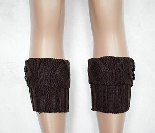 Women Winter Leg Warmer with Button Cozy Soft