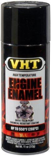 VHT SP124 Engine Enamel Gloss Black Can - 11 oz. Color: Gloss Black, Model: SP124, Outdoor&Repair Store ()