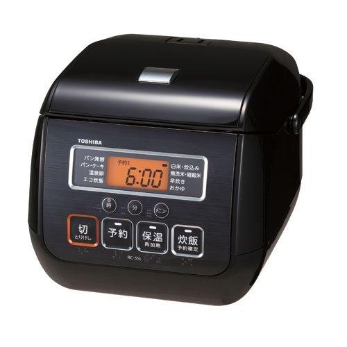 東芝 マイコンジャー炊飯器(3合炊き) ブラックTOSHIBA RC-5SL-K   B07786T6DQ