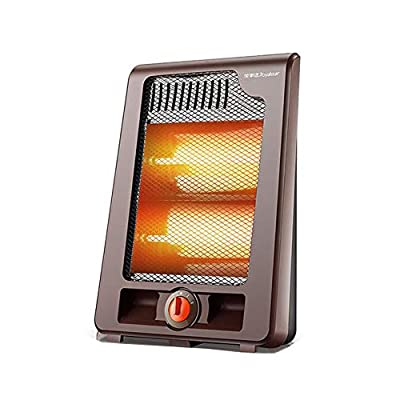 CJC Electric Fan Heater Warmer Quartz Tube Portable Tip Over Safety Protection Small Rooms Home