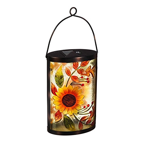 New Creative Sunflower Glass Solar Lantern (Feeder Sunflower Lantern Garden)