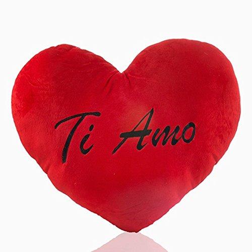 Eurowebb cojín Corazón rojo de peluche gigante Ti Amo ...