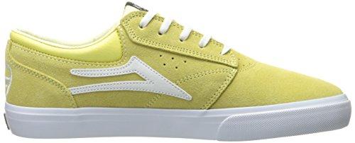 Lakai Griffin Kids Navy Gum Textile. Dusty Yellow Suede