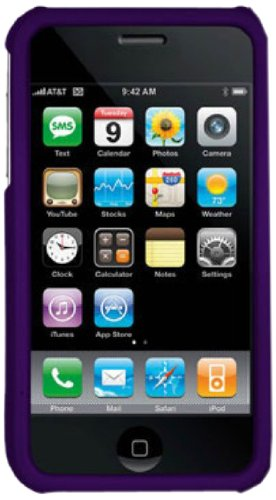 DECORO CRIP2PP Premium Protector Case for Apple iPhone 3G/3GS - 1 Pack - Retail Packaging - Rubber Purple