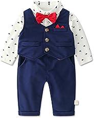 WYTbaby Baby Boys Gentleman Suit Tuxedo Blazers Newborn Christening Gowns Clothing Sets