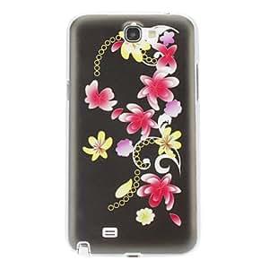 MOFY-Flores de Patr-n Cirrus para Samsung Galaxy Nota 2 N7100