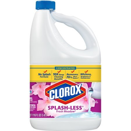 Clorox Splash-Less Scented Bleach, Concentrated Fresh Meadow, 116 Fluid Ounces (Pack of 3)