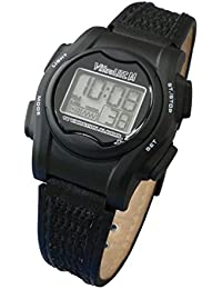 Mini 12-Alarm Vibrating Watch - Black