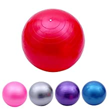 Ueasy Exercise Ball Stability Ball With Heavy Duty Gym Quality Improves Balance Core Strength Back Pain and Posture Perfect for Yoga Pilates CrossFit Birthing Ball Desk Chair
