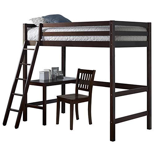 NE Kids Hillsdale Caspian Twin Study Loft with Chair