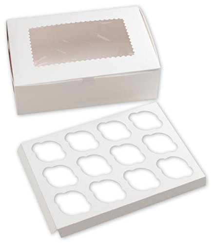 EGP Windowed Standard Cupcake Boxes 12 Cup (Windowed Box Cupcake)