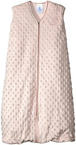 HALO SleepSack Plush Dot Velboa Wearable Blanket, Pink, Medium