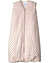 SleepSack Plush Dot Velboa Wearable Blanket, Pink, Medium