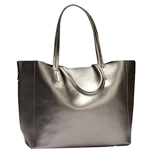 Silver Leather Bag - 5