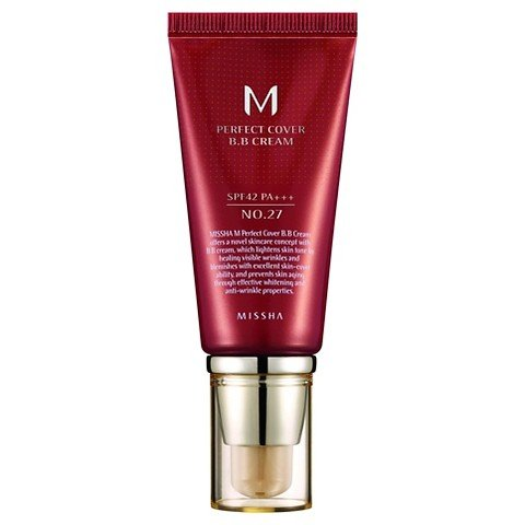 MISSHA M Perfect Cover BB Cream SPF42/PA+++ (No.27/Honey Beige) 50ml, 1er Pack