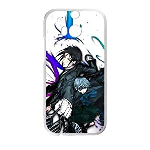 HTC One M8 Cell Phone Case White Black Butler