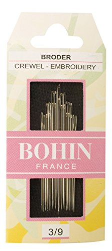 Bohin Crewel Embroidery Needles, Size 3/9, 15 Per Package