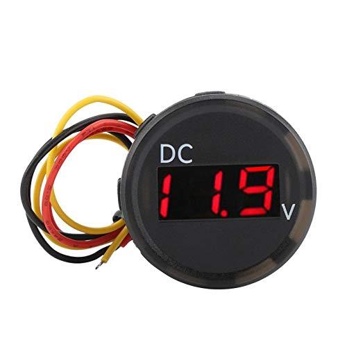 Value-5-Star - DC 0-100V Digital Voltage Meter Voltmeter LED Panel Display for Car Motorcycle Waterproof Universal Adapter