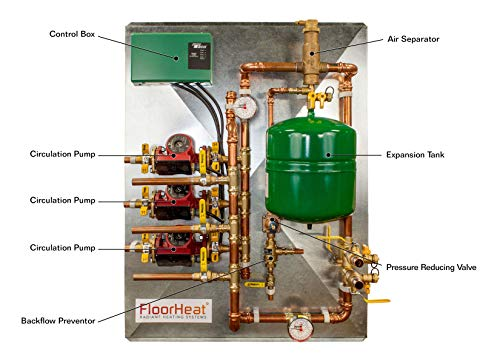 FloorHeat 3-Zone Preassembled Radiant Heat Distribution/Control Panel System