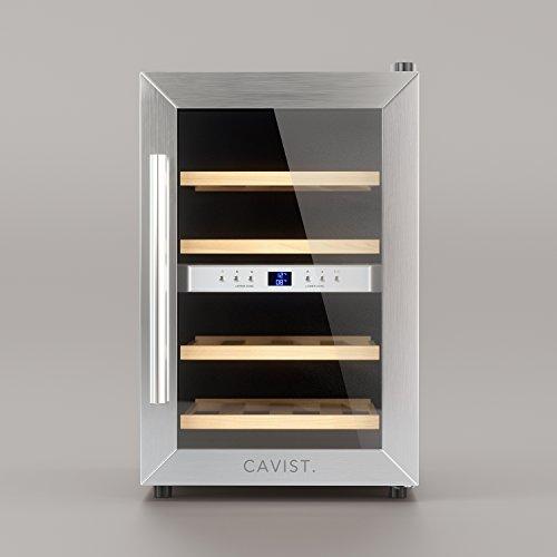 Cavist Cavist12 – Vinoteca para 12 Botellas, Acero Inoxidable, Plateado, 48 x 34,5 x 54,3 cm